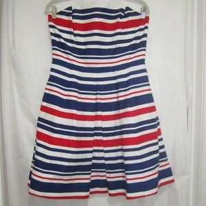 Vineyard Vines 8 Americana Nautical Skater Dress